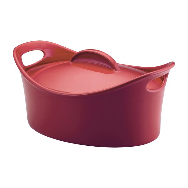 Bubble and Brown 4.25 Qt. Oval Casserole by Rachael Ray