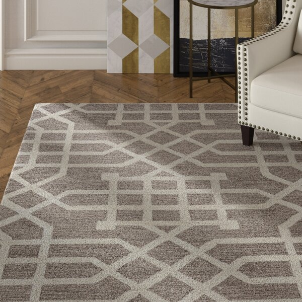 Judy Hand-Tufted Taupe/Tan Area Rug by Mercer41