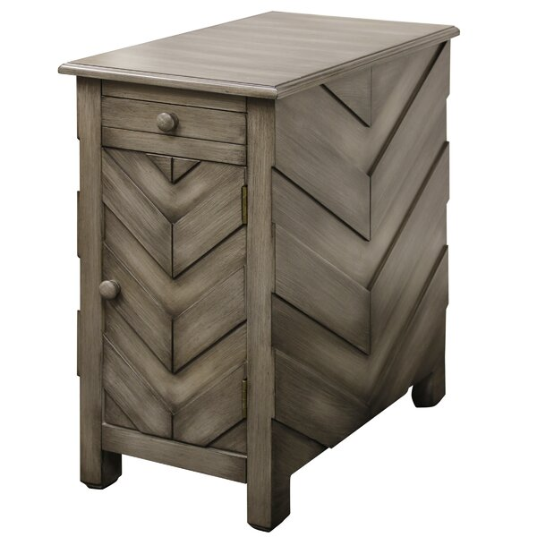Massie Arrow End Table with Storage by Union Rustic