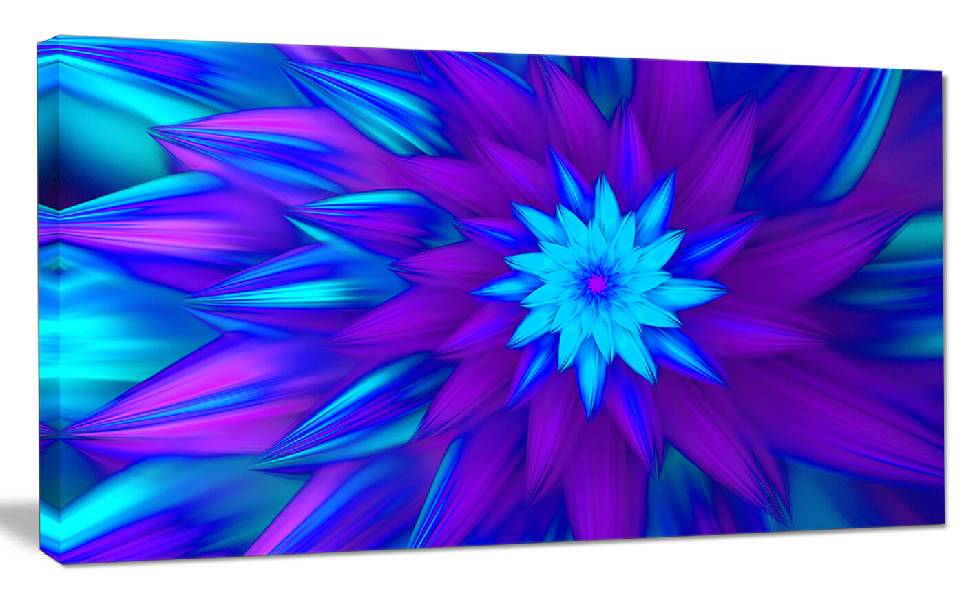 Designart dance of blue flower petals graphic art on wrapped designart dance of blue flower petals graphic art on wrapped canvas wayfair izmirmasajfo