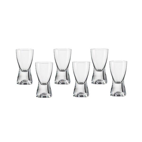 Samba 2 oz. Crystal Shot Glass (Set of 6) by Red Vanilla