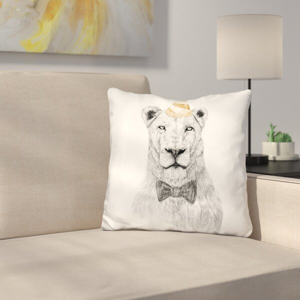 Get the Party Started Color Throw Pillow by East Urban Home