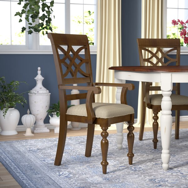 Insley Arm Chair (Set of 2) by Three Posts