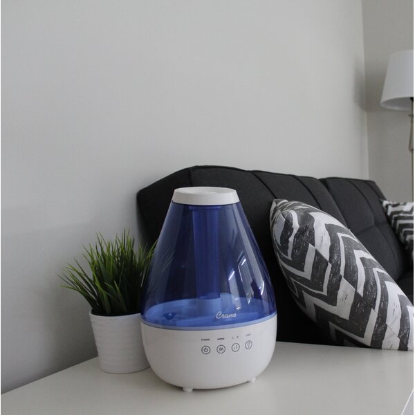 1 Gal. Dual Mist Ultrasonic Tabletop Humidifier by Crane USA