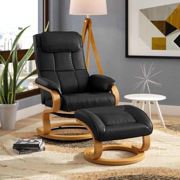 Medford Manual Swivel Recliner with Ottoman by Corrigan Studio