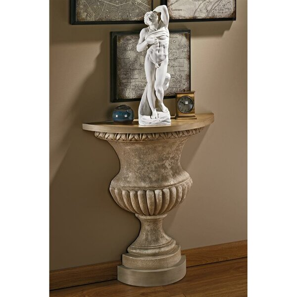 Garden Of Versailles Wall Urn Console Table By Design Toscano