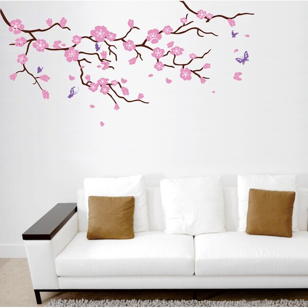 Cherry Blossom Tree Branch Wall Decal by Pop Decors