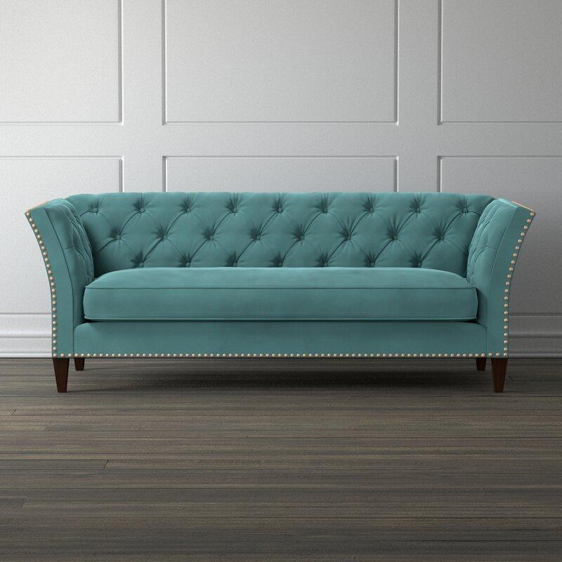mistana gilmore chesterfield sofa reviews wayfair rh wayfair com teal blue chesterfield sofa teal leather chesterfield sofa