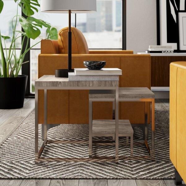 Philippos 2 Piece Frame Nesting Tables With Storage By Mercury Row