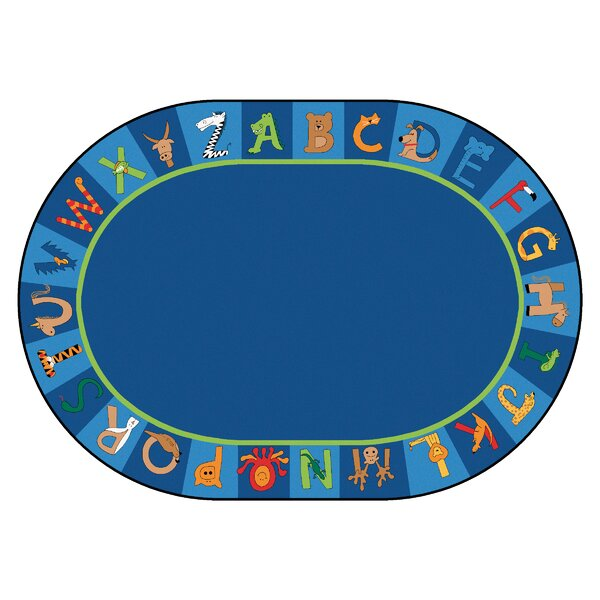 Carpet Kits Printed A to Z Animal Cut Pile Area Rug by Carpets for Kids