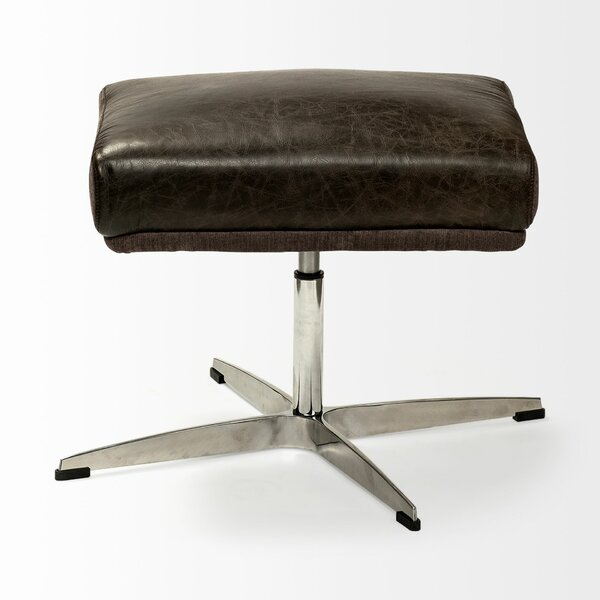 Harris Leather Ottoman By Williston Forge