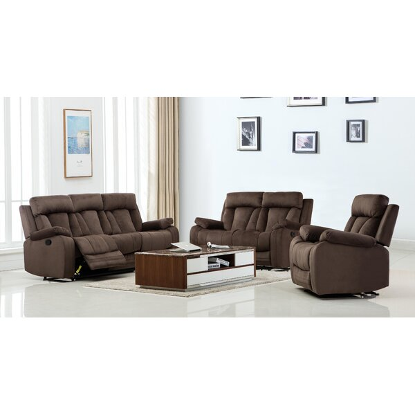 Troxler Reclining 3 Piece Living Room Set By Red Barrel Studio by Red Barrel Studio Bargain