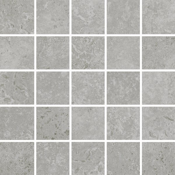 Kent 2 W x 2 Porcelain Mosaic Tile in Warm Gray by Parvatile