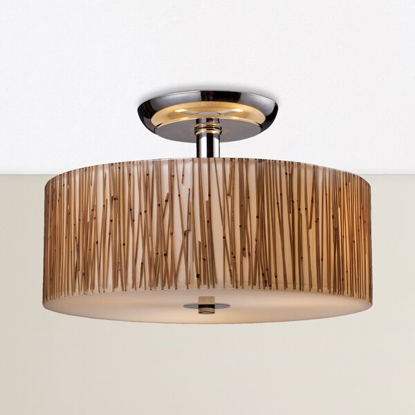 Panama City 3-Light Semi Flush Mount by Bay Isle Home