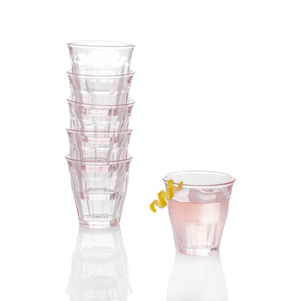 Hiller 8 oz. Glass Every Day Glasses (Set of 6) by Red Barrel Studio