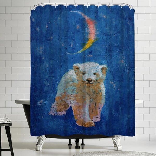 Michael Creese Polar Bear Cub Shower Curtain by East Urban Home