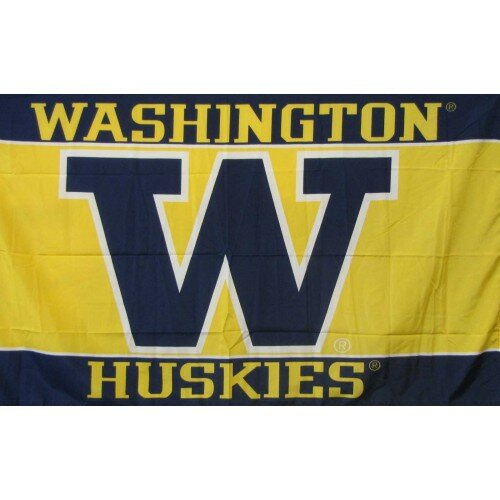 Washington Huskies Polyester 3 x 5 ft. Flag by NeoPlex