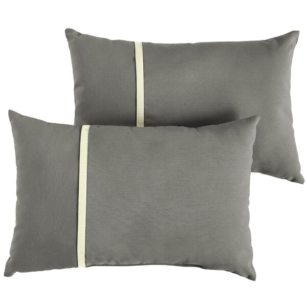 Chau Indoor/Outdoor Lumbar Pillow (Set of 2) by Rosecliff Heights