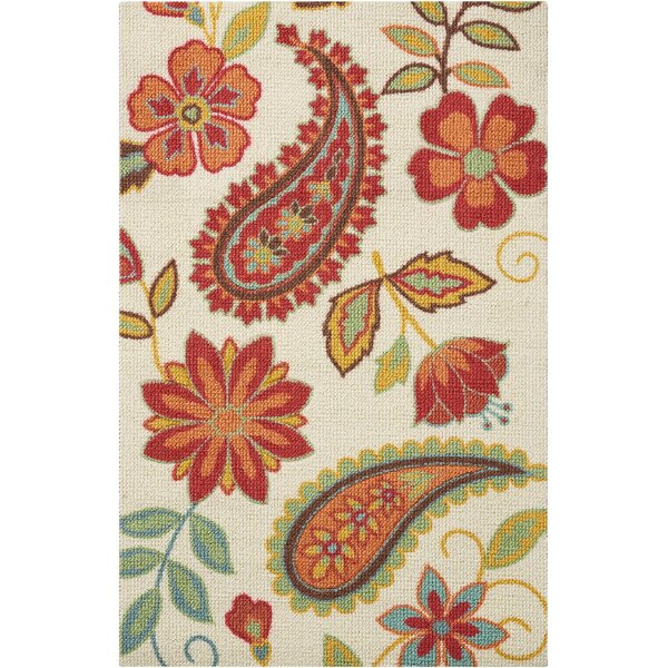 Sharan Ivory/Red Area Rug by Winston Porter