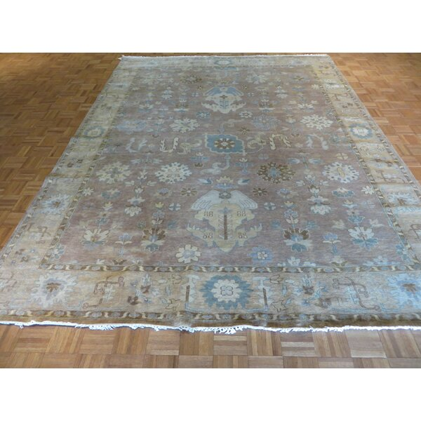 One-of-a-Kind Josephson Turkish Oushak Hand-Knotted Wool Lavender Area Rug by Canora Grey