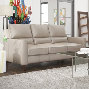Broad Leather Sofa by Latitude Run #2 on| Fire Pit Tables