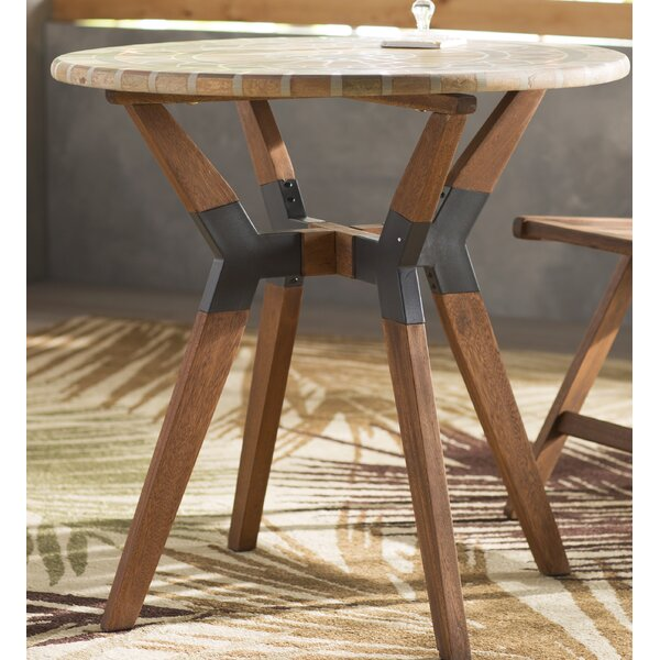 Roseland Mosaic Bistro Table by Beachcrest Home