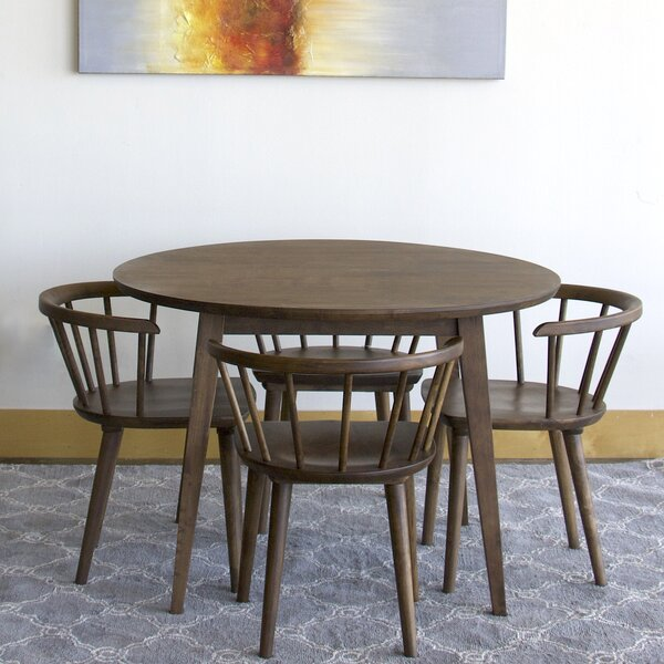 Datto Mabel 5 Piece Solid Wood Dining Set By Corrigan Studio