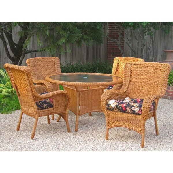 Indoor/Outdoor Wicker Patio Premium U-shape Cushion (Set of 4)