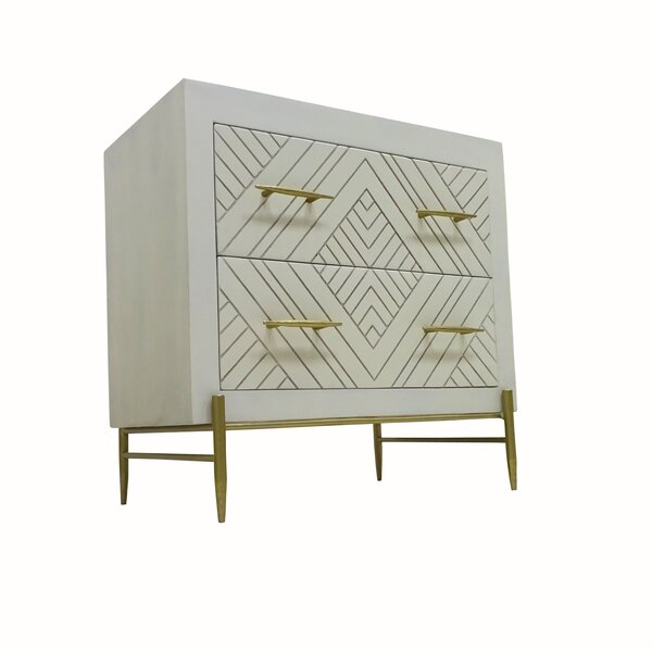 Wilbraham 2 Drawer Nightstand by Everly Quinn Everly Quinn