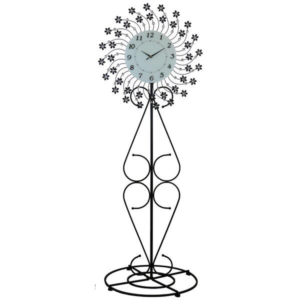Elegant Bejeweled Round 69 Floor Clock by Winston Porter