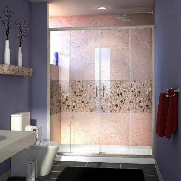 Visions 60 x 72 Double Sliding Semi-Frameless Shower Door by DreamLine