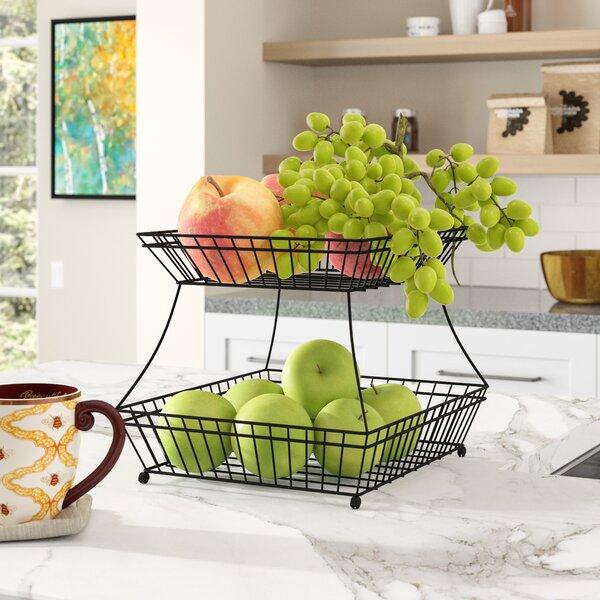 Knickerbocker 2 Tier Flat Back Bread Basket By Red Barrel Studio.