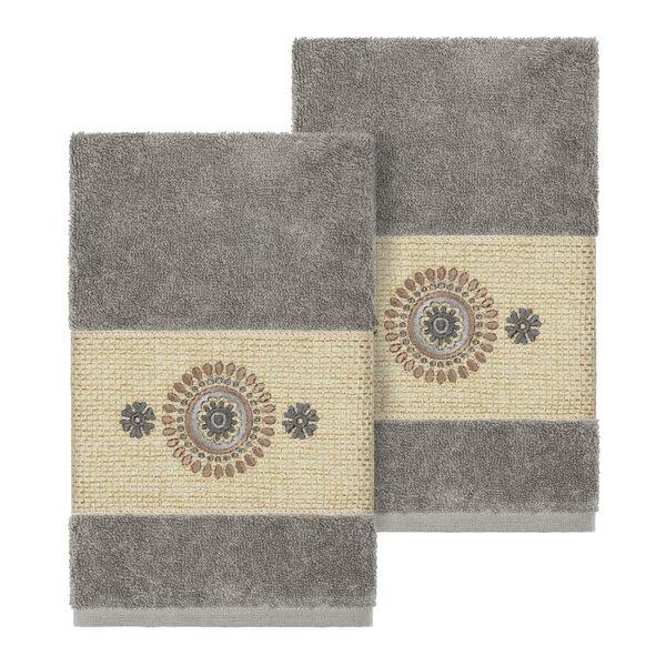 Roeder Embellished Turkish Cotton Hand Towel (Set of 2) by Winston Porter