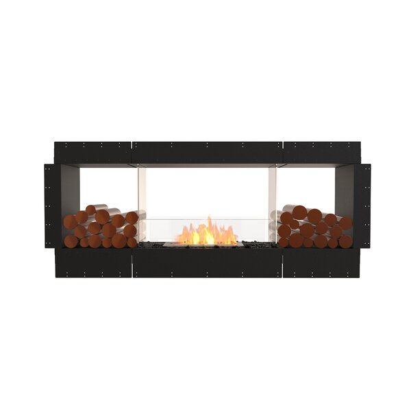 Flex Double Sided Recessed Wall Mounted Bio-Ethanol Fireplace by EcoSmart Fire