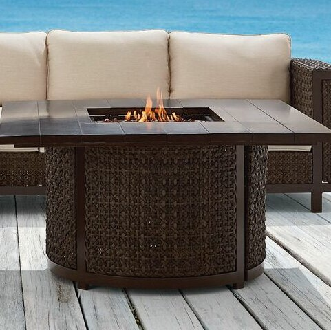 Epicenters Outdoor Hampden Aluminum Gas Fire Pit Table by A.R.T.