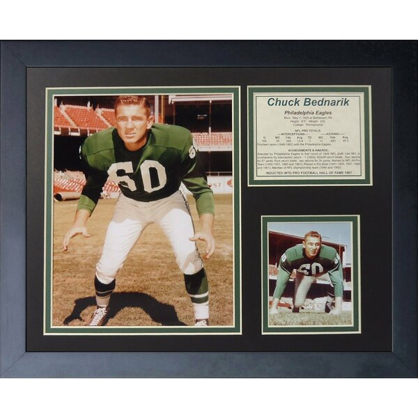 Chuck Bednarik Framed Memorabilia by Legends Never Die