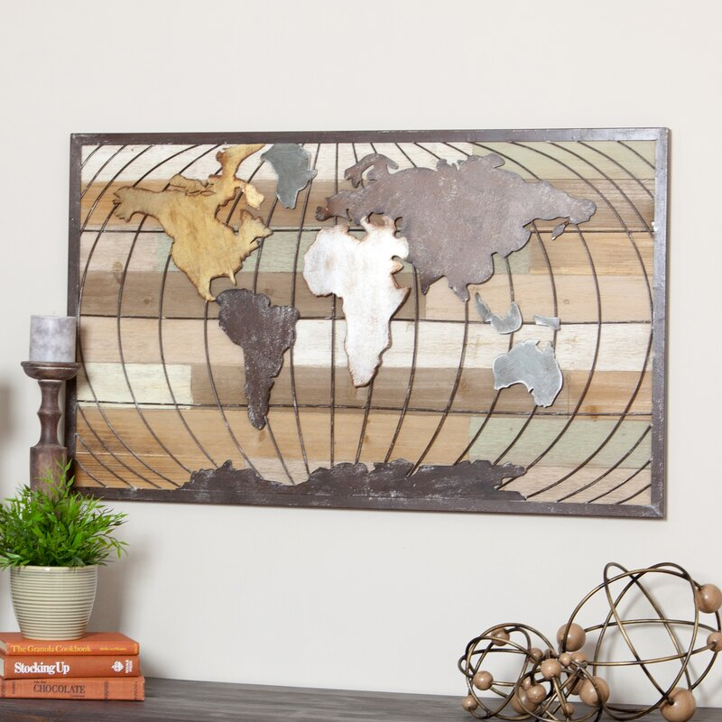 Aspire marco world map wall decor reviews wayfair marco world map wall decor gumiabroncs Image collections