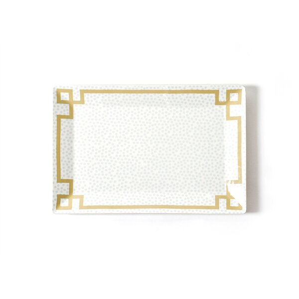Smoke Small Dot Rectangle Platter by Coton Colors