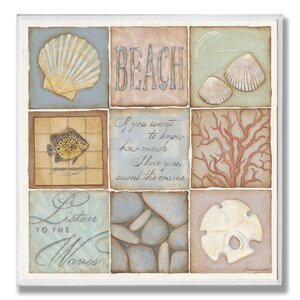 9 Patch 'Count The Waves Beach' Graphic Art Print by Beachcrest Home