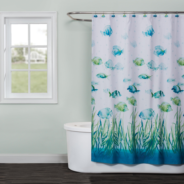 Bay Isle Home Pina Fabric Shower Curtain