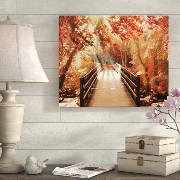 Autumn Bridge Photographic Print By August Grove.