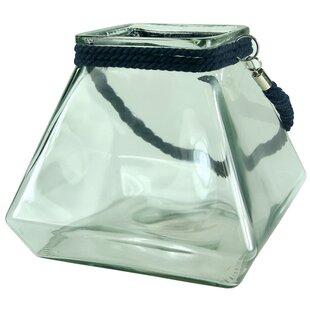 Reviews Glass Lantern By Breakwater Bay