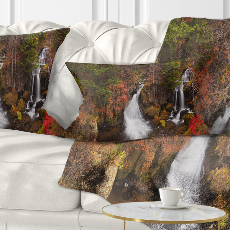 East Urban Home Landscape Ryuzu Falls Near Nikko Japan Lumbar Pillow Wayfair