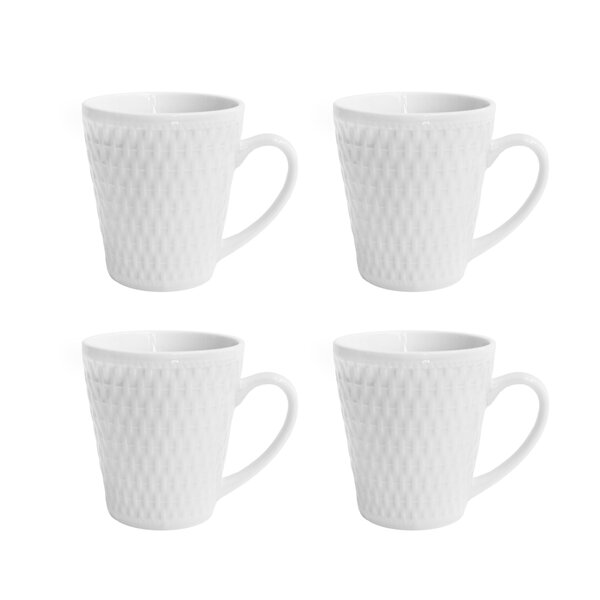 Juliette Coffee Mug (Set of 4) by Elle Decor