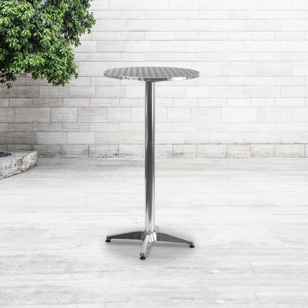 Mcginnis Folding Steel Bar Table by Mercury Row