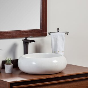 Best Choices Artic Stone Circular Vessel Bathroom Sink By Laguna Marble