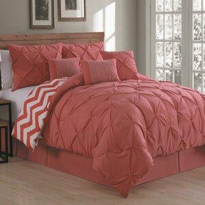 pink bedroom sets. Germain Comforter Set Modern Pink Bedding Sets  AllModern