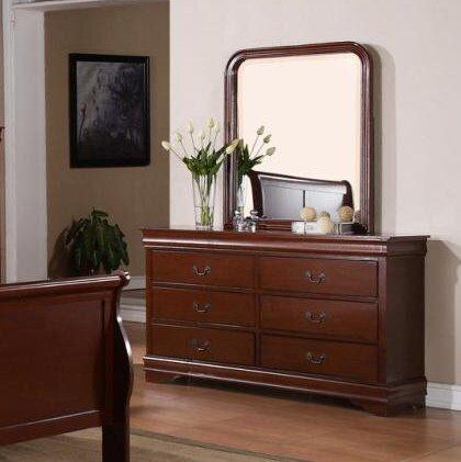 Guffey 6 Drawer Double Dresser with Mirror by Laurel Foundry Modern Farmhouse
