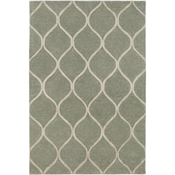 Bronaugh Hand-Tufted Green/Ivory Area Rug by Greyleigh