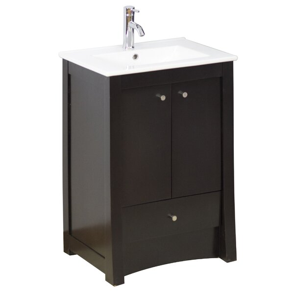 24 Single Transitional Bathroom Vanity Set